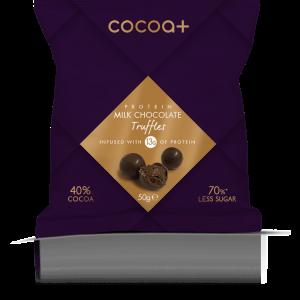 Cocoa+ 40% Milk Protein Truffles 50g