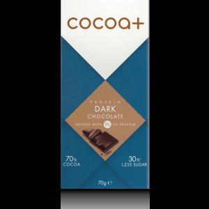 Cocoa+ 70% Dark Protein Chocolate 40g