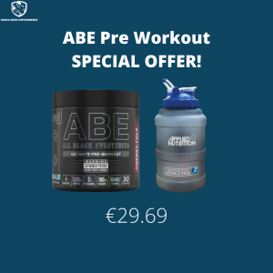 Applied Nutrition ABE Preworkout + FREE Applied Nutrition Water Jug