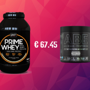 QNT Prime Whey + Applied Nutrition ABE Pre Workout