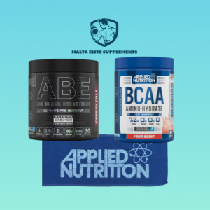 Applied Nutrition ABE Preworkout + Applied Nutrition BCAA Amino Hydrate + Applied Nutrition Gym Towel