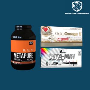 QNT Metapure Whey Protein Isolate (2KG) + Olimp Vita-min Multiple Sport + Olimp Omega 3