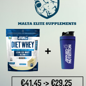 Applied Nutrition Diet Whey 1kg + Applied Nutrition Metal Shaker Blue