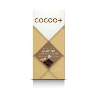 Cocoa+ Dark Chocolate Almond 70g