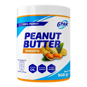 6PAK Nutrition Peanut Butter Smooth 908g