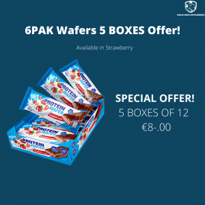 6PAK Protein Wafer 40g – 5 BOX May Offer