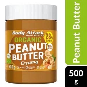 Body Attack Organic Peanut Butter – 500G